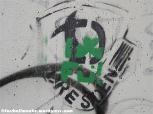 Grafitti Dynamo Dresden Wappen und FÜ.