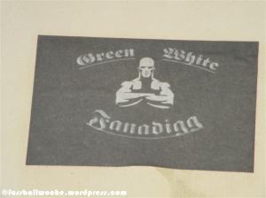 Aufkleber Fanclub Green White Fanadigg (Fürth).