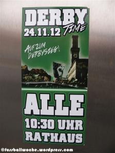 Aufkleber zum Derby Fürth - Nürnberg am 24.11.12.