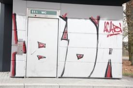 """Graffiti """"BDA"""" (Banda di amici - Nürnberg)."""