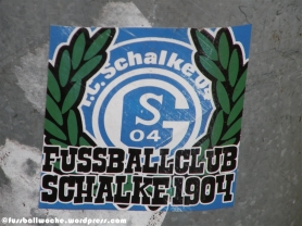 "Aufkleber ""Fussballclub Schalke 1904"""
