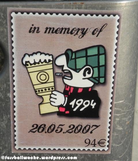 "Aufkleber ""In memory of 26.05.2007"""