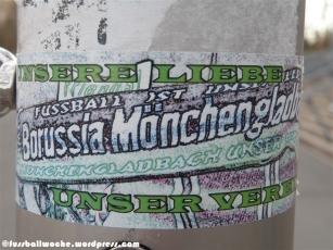 """Aufkleber Gladbach: """"Unsere Liebe - unser Verein"""""""