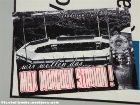 """Aufkleber """"Wir wollen das MAX MORLOCK STADION!"""""""