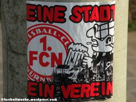 """Aufkleber """"Eine Stadt - ein Verein"""" (Nürnberg)"""