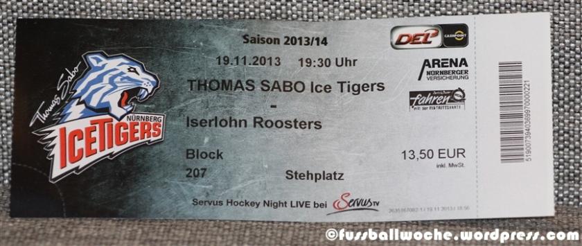 Endlich ansehnliche Tickets bei den Ice Tigers.