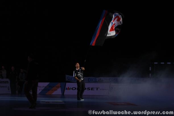 Die HC-Fahne in der Arena.